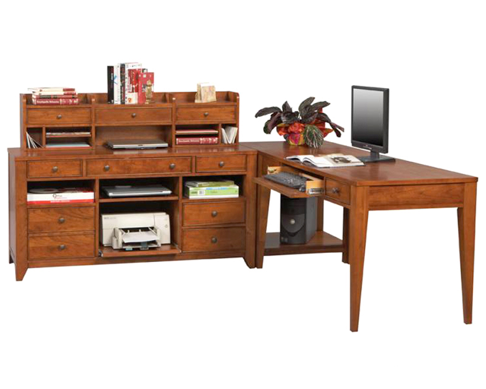 winners only corner home office set with writing desk wo