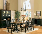Winners Only Cottage Cherry/Ebony Dining Set WO-DC4296CEs