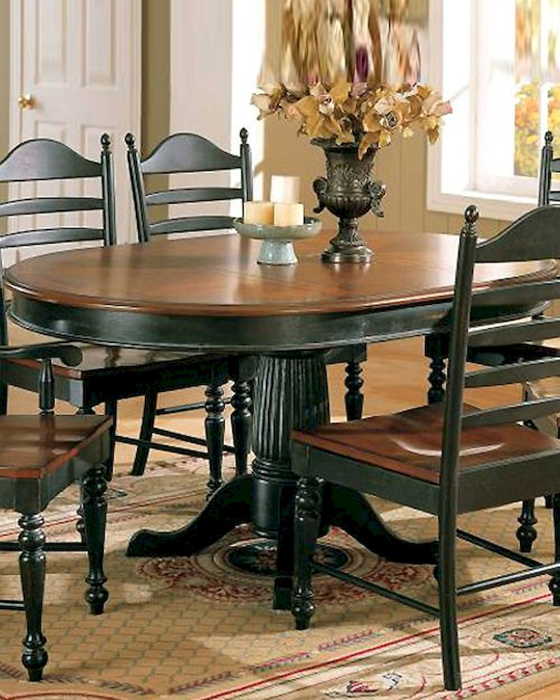 winners only cottage cherry ebony dining table wo dc4260ce. Black Bedroom Furniture Sets. Home Design Ideas