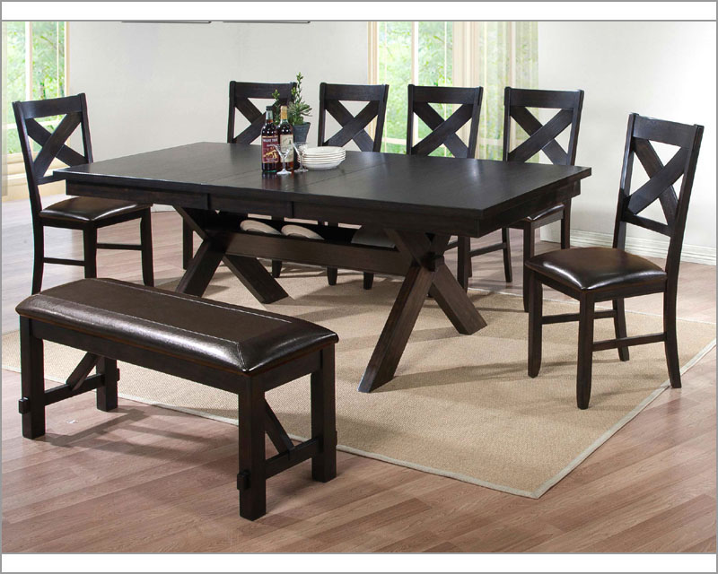 Winners Only Dining Room Set Edgewater in Espresso WO-DEX14090SET