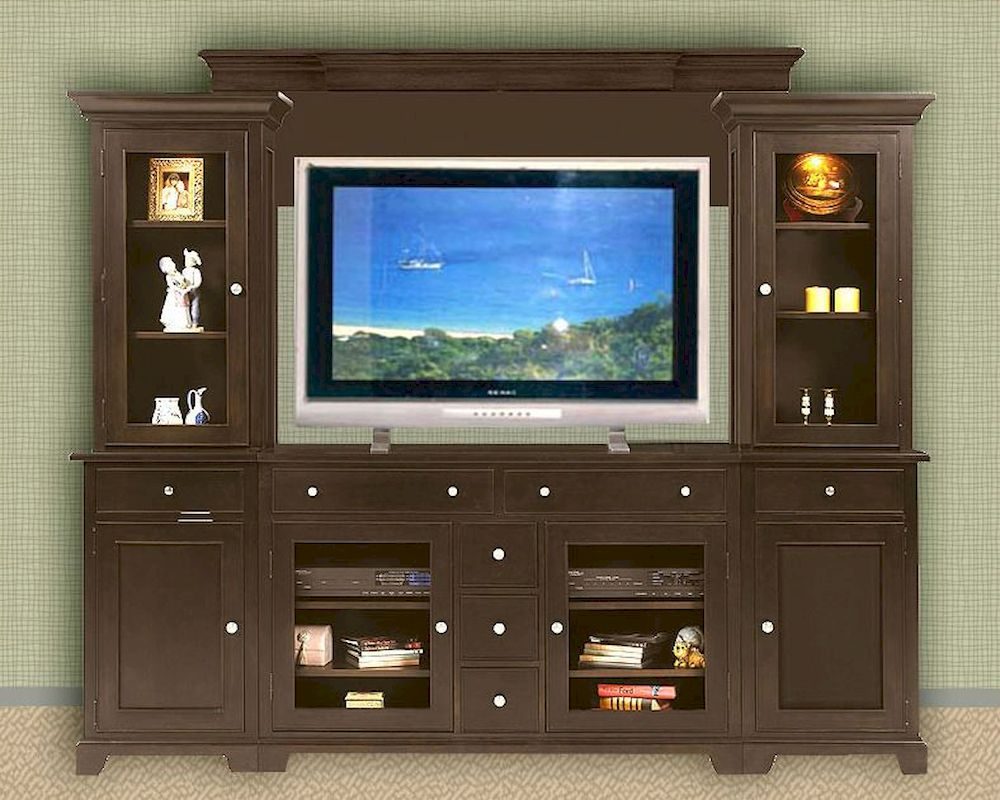 Winners Only Espresso Entertainment Wall Unit WO TM 1
