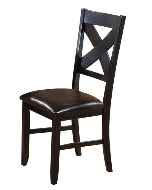 Winners Only Side Chair Edgewater In Espresso Wo Dex1450s