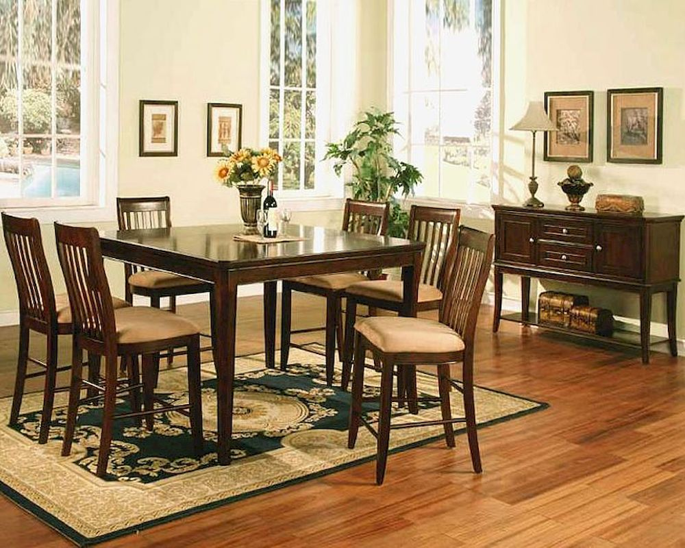 Winners Only Topaz Cherry Counter Height Dining Set Wo