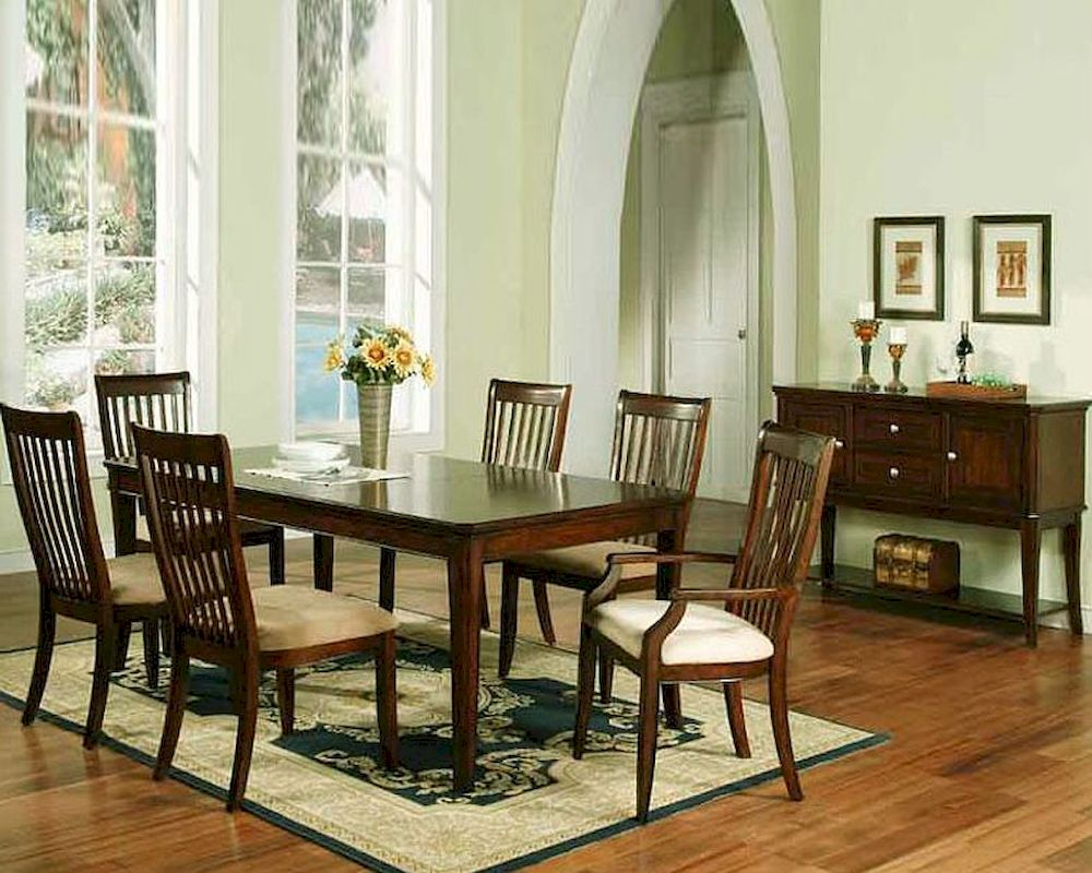 Winners only topaz cherry dining room set wo dtc24278s for Cherry dining room set