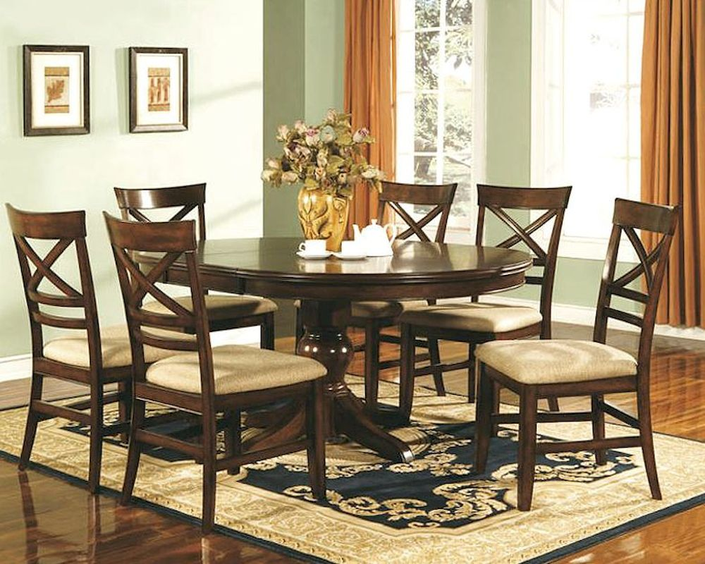 Winners only topaz cherry dining room set wo dtc24866s for Cherry dining room set