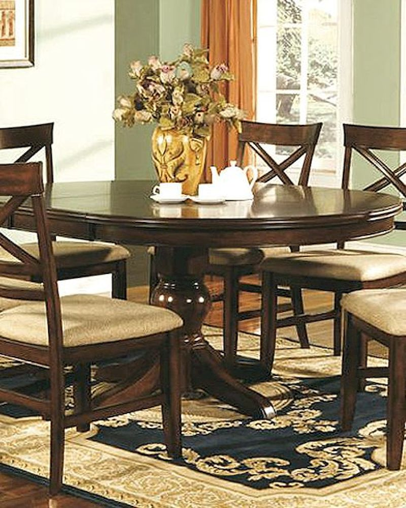 Winners only topaz cherry oval dining table wo dtc24866 - Dining tables oval ...