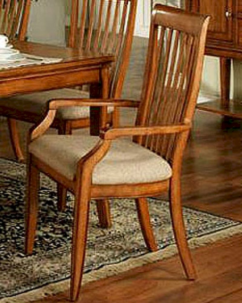 Winners Only Topaz Cinnamon Slat Back Arm Chair WO DT2450ASet Of 2