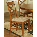 Winners Only Topaz Cinnamon X Back Side Chair WO DT2451S Set Of 2