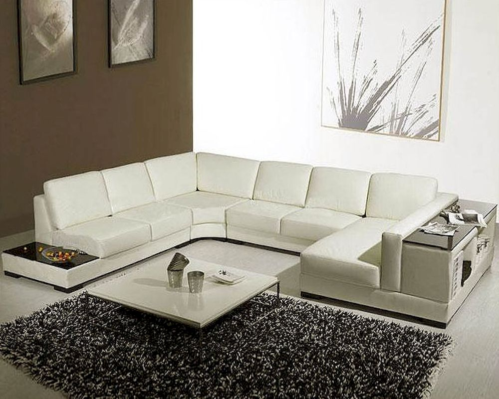 With end table leather sectional sofa set 44lt75 for Sectional sofa end tables