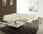 with end table Leather Sectional Sofa Set 44LT75