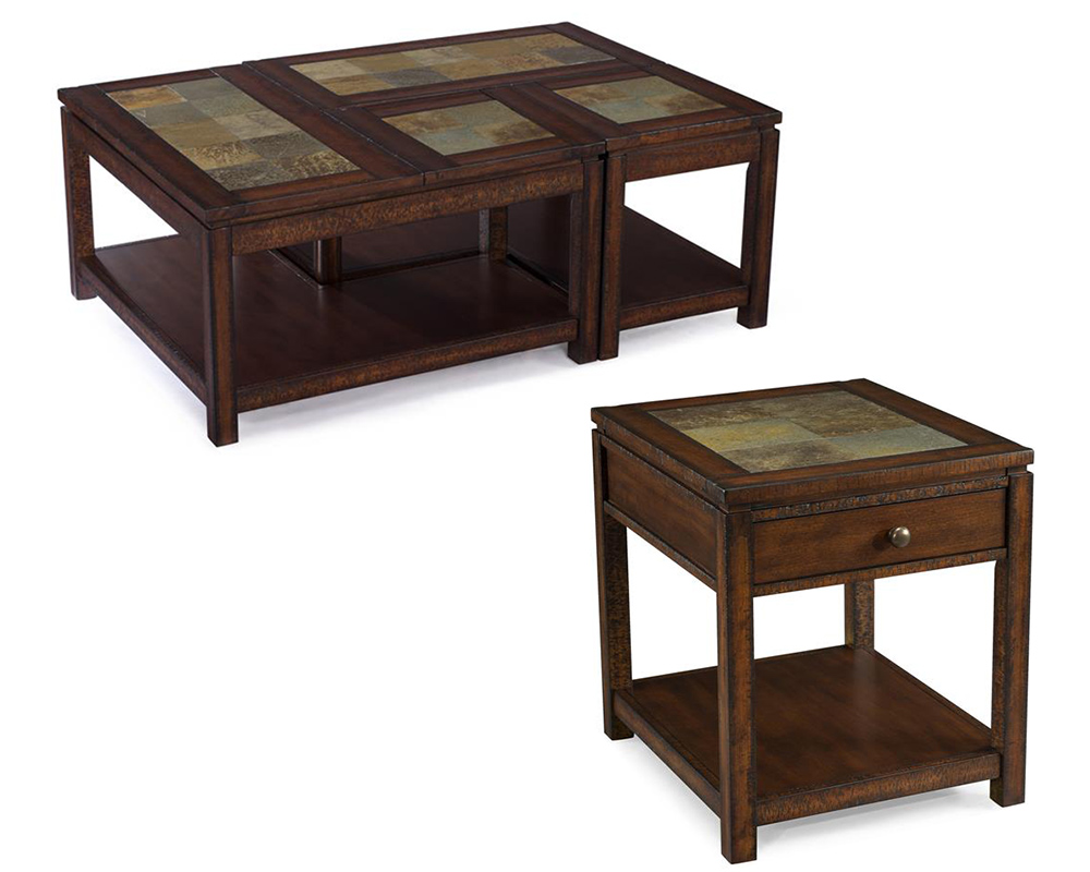 Wood Coffee Table Set Gemini By Magnussen Mg T3040set