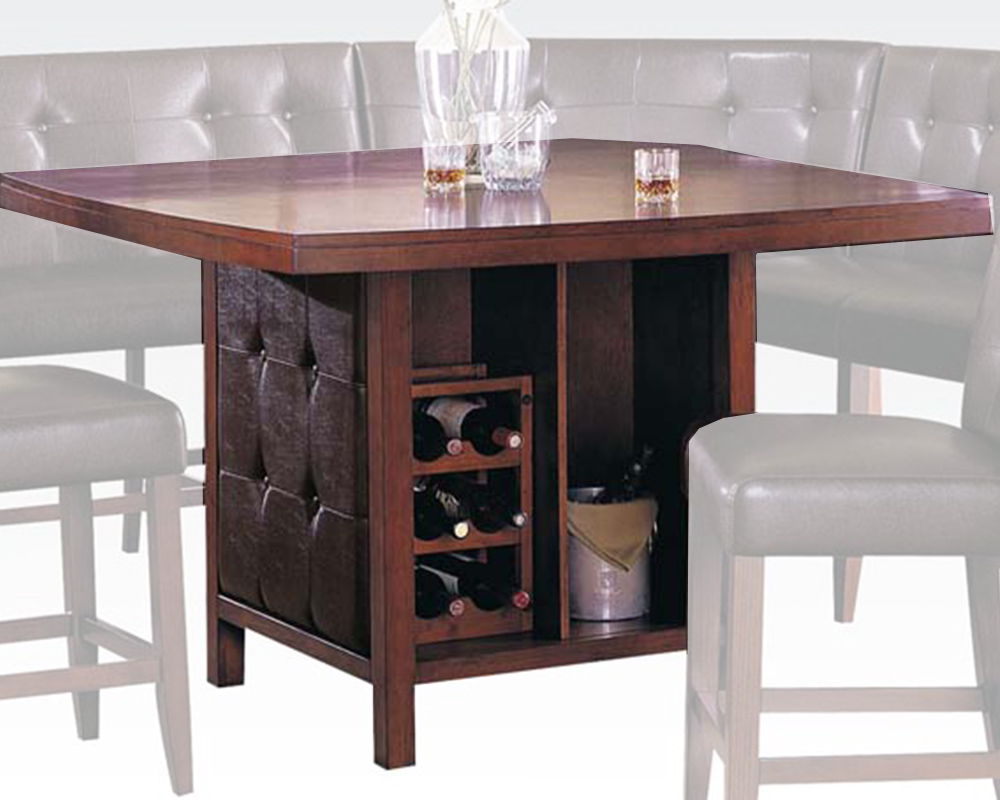 wood top counter height table bravo by acme ac07250. Black Bedroom Furniture Sets. Home Design Ideas
