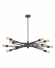 ELK Xenia 10 Light Chandelier in Oil Rubbed Bronze EK-66912-10