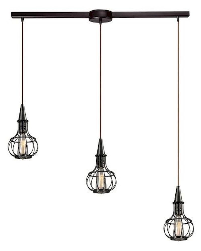 Elk Lighting Yardley: ELK Yardley Collection 3 Light Chandelier In Oil Rubbed