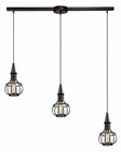 ELK Yardley Collection 3 Light Chandelier in Oil Rubbed Bronze EK-14191-3L