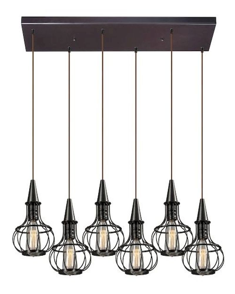 Elk Lighting Yardley: ELK Yardley Collection 6 Light Chandelier In Oil Rubbed