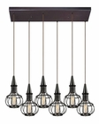 ELK Yardley Collection 6 Light Chandelier in Oil Rubbed Bronze EK-14191-6RC