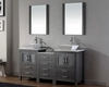 Zebra Grey Double Bathroom Set Dior by Virtu USA VU-KD-70066-S-ZG