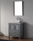 Zebra Grey Single Bathroom Set Dior by Virtu USA VU-KS-70024-WM-ZG