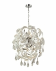 ELK Zebula 18 Light Chandelier in White EK-31546-18