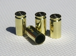 Real Polished Brass 40 cal Bullet Case Tire Valve Stem Caps