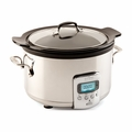 All-Clad 4 Qt. Slow Cooker w/Black Ceramic Insert - SD710851