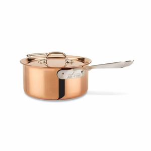 All-Clad c2 Copper Clad 3 Qt Sauce Pan w/Lid - CD203