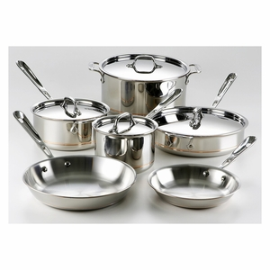 All-Clad Copper Core 10-Pc Cookware Set - 600822SS