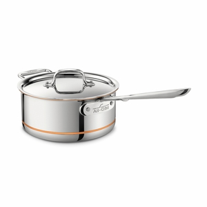 All-Clad Copper Core 3 Qt. Sauce Pan w/Loop & Lid - 6203SS