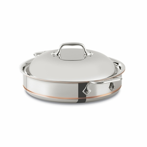 All-Clad Copper Core 3 Qt. Sauteuse w/Dome Lid - 640318SS