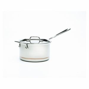 All-Clad Copper Core 4 Qt. Sauce Pan w/Loop & Lid - 6204SS