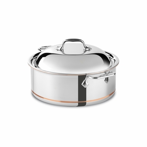 All-Clad Copper Core 6 Qt. Round Roaster - 650618SS