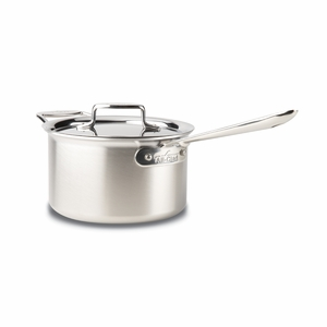 All-Clad d5 Brushed Stainless 4 Qt. Sauce Pan w/Lid - BD55204