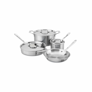 All-Clad d5 Brushed Stainless 7-Pc Cookware Set - BD005707