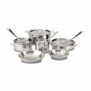 All-Clad Stainless Steel 10-Pc Cookware Set - 401488-R