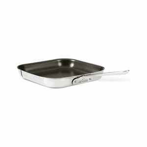 "All-Clad Stainless Steel 11"" Nonstick Square Grill - 4011NSR2"
