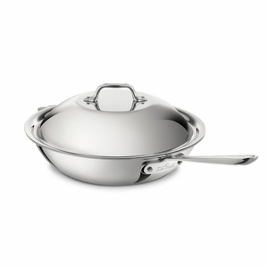 """All-Clad Stainless Steel 12"""" Chef's Pan w/Lid - 4412"""
