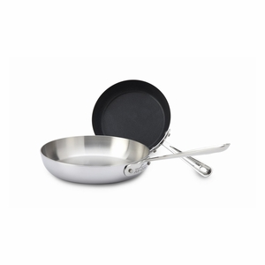 All-Clad Stainless Steel 2 Pc French Skillet Set - 41150