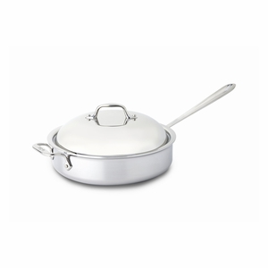 All-Clad Stainless Steel 4 Qt. Sauté Pan w/Domed Lid - 44048