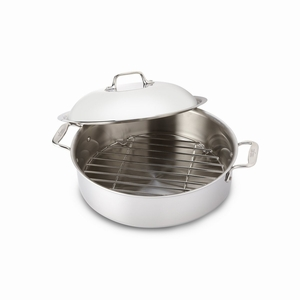 All-Clad Stainless Steel 6 Qt. French Braiser w/Lid & Rack - 4515