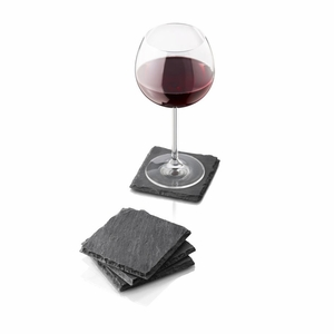 "Boska Holland Pro 4"" x 4"" Coasters Slate - Set of 4 - 35-90-02"