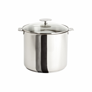 Cristel Casteline Removable Handle - 10 Qt Stockpot w/Lid - M24QKP