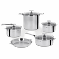 Cristel Casteline Removable Handle - 13-Pc Stainless Steel Cookware Set - STQMP13KPC