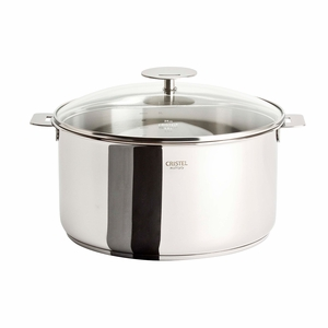 Cristel Casteline Removable Handle - 7.5 Qt Stew Pan w/Lid - F26QMPKP