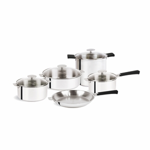 Cristel Mutine Removable Handle - 13-Pc Stainless Steel Cookware Set - STQ13KPMAN