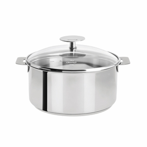 Cristel Mutine Removable Handle - 4 Qt Stew Pan w/Lid - F22PK