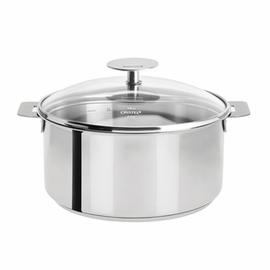 Cristel Mutine Removable Handle - 7 Qt Stew Pan w/Lid - F26PK