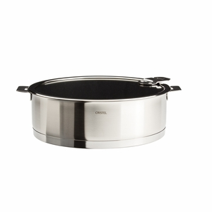 Cristel Strate Removable Handle - 3.5 Qt Non-Stick Saute Pan w/Lid - S24QLEKSA