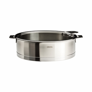 Cristel Strate Removable Handle - 3 Qt Saute Pan w/Lid - S22QLKSA