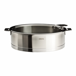 Cristel Strate Removable Handle - 4.5 Qt Saute Pan w/Lid - S26QLKSA